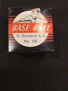 OFFICIAL 1960s BASEBALL ST BERNADETTES A.A UNOPEN IN BOX