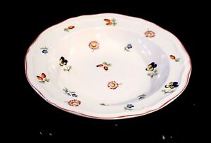 Villeroy Boch Petite Fleur Rimmed Cereal/ Soup Bowl