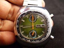 Vintage CITIZEN AUTOMATIC 8110 CHRONOGRAPH Original Bracelet Green Face !!