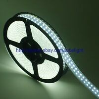 5M 600 leds Double Row 5050 SMD White LED Strip Light Tube Waterproof 12V DC