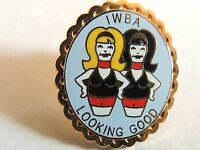 """Vintage Classic """"Int'l Women Bowlers Association"""" Looking Good Pin"""