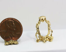 Miniature 1 12 Scale Ornate Gold Victorian Plate Stand