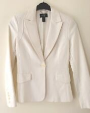 ***MANGO Suit***NEU Frühlings* Jacke *Blazer weiß Top Gr. 38 Cotton Super-chic