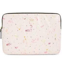 """Kate Spade 15"""" Laptop Sleeve Case Champagne Print New"""