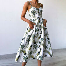 Women Floral Long Maxi Dress Evening Party Boho Summer Beach Sundress Plus Size