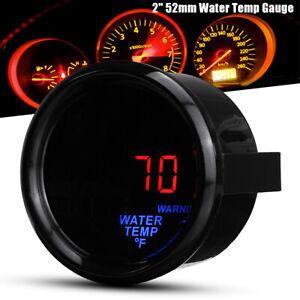 "2"" 52mm Car Auto Digital LED Water Temperature Gauge Meter Fahrenheit + Sensor"