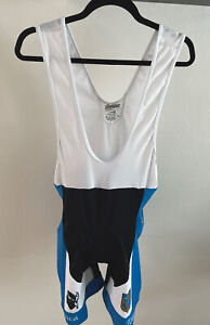 Inverse Cycling One Piece Bicycle Jersey Short Set Suit Blue/Black/White XL VTG