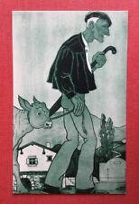 CPSM. Illustrateur Jacques LE TANNEUR. Pays Basque. Jour de Marché. Vert.