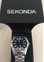 NEW ORIGINAL Sekonda Gents Blue Dial quartz analogue display watch