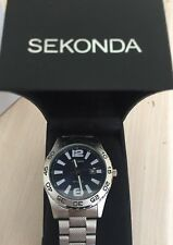NEW ORIGINAL Sekonda Gents Blue Dial quartz analogue display watch