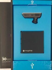 Mophie Power Blue Bluetooth Headset - Schwarz - Neu
