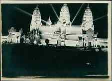 Paris, Exposition coloniale de 1931, Temple Angkor Vat  Vintage silver print. Ex