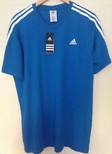 Adidas Performance Climalite Essentials Blue 3 Stripe Team Football T-Shirt L 48