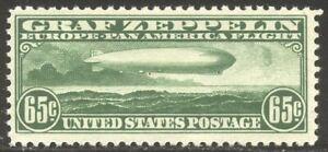 U.S. #C13 Mint NH - 1930 65c Graf Zeppelin ($240)