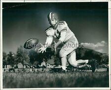 1955 QB Martin Bezyack Catches Football Original News Service Photo