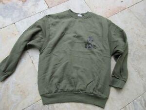 Original Army Genuine Issued Sweatshirt USMC Insignia Sweater Marine Corps Gr S