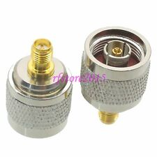 1pce Adapter Connector RP-N male jack to RP-SMA female plug for WIFI antenna