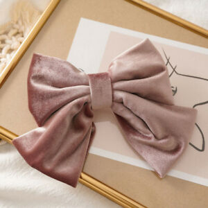 Vintage Barrettes Big Bow Hair Clip Ponytail Clip Hairgrips For Women Hairpins