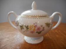 Wedgwood Mirabelle bone china globe shape sugar box and lid R4537