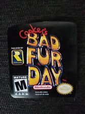 Conkers bad fur day N64 Cartridge Replacement Label Sticker, nintendo 64