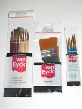 Lot Set x19 Pinceaux Professionelles Acrylique / Huile Travaux de Peinture NEUF