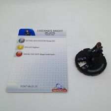Heroclix The Brave and the Bold set Checkmate Knight (black) #014 Common w/card!