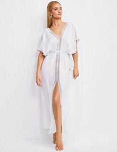 Perfect for summer - BNWT M&S Rosie Autograph lace insert beach kaftan dress
