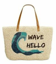 Style & Co Wave Hello  Straw Beach Bag Tote