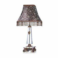 RORO Luxury Enameled 24K Gold Handmade Table Lamp, Bohemian Crystal + Swarovski