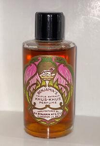 Benjamin's ~Triple Extract Khus-Khus Perfume Splash 1oz VINTAGE•RARE! FREE SHIP!