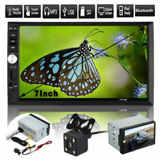 Double 2DIN In Dash Car DVD MP5 Player Bluetooth Auto Stereo Radio USB+Camera UK