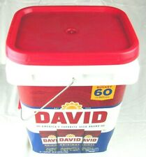 David Sunflower Seeds Roasted & Salted Bucket 60 Pack Original ALL Natural Team