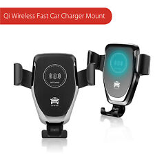 10W Qi Wireless Fast Car Charger Mount Stand For iPhone X Samsung S9
