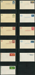UN-New York #UX1-UX4/UXC1-UXC7, 1952-1969 Pre-Stamped Post Cards, Unused