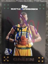 JEFF GREEN signed rookie basketball card SEATTLE SONICS autograph