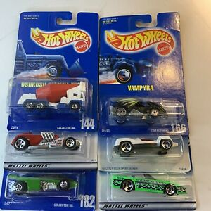 Hot Wheels Mattel Vintage Cars Truck Toys Lot of 6 NOS Collectibles Sealed #N1-2