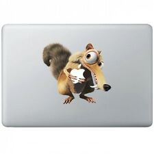 """Iceage squirrel with apple Macbook Air/Pro 13"""" Removable Vinyl Sticker"""