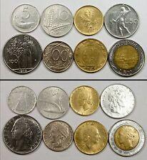 NC0142 Italia, lote de 8 monedas - Italy 8 coins lot