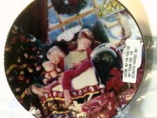 Nib 2000 Avon Christmas Dreams Plate-Caucasian-(22 Kt Gold Trim)-Free Shipping