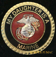 MY DAUGHTER IS A US MARINE HAT PIN UP WOMAN MARINES WM IRAQ STEP DAD MOM GIFT