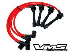Vms 90-01 Acura Integra Rs Ls Gs Engine B18 10.2Mm Racing Spark Plug Wires Red (Fits: Acura Integra)