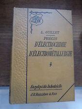 précis d'électrochimie et d'électrométallurgie par L. Guillet - 1903
