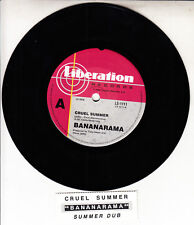 "BANANARAMA  Cruel Summer 7"" 45 rpm vinyl record NEW + jukebox title strip"