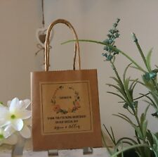 """1 Personalised  Wedding """"Thank You For Being My Bridesmaid Etc"""" Kraft Bag"""