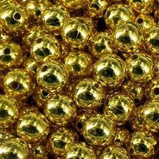 CHRISTMAS  GOLD or  SILVER PEARLS 80 BEADS 10mm CRAFT PB10