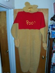 ADULT S SMALL WINNIE THE POOH DISNEY STORE COSTUME WITH SOUND