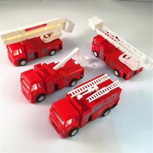 Pull Back Fire Truck Pretend Play Water Tanker Model Toys Kids Educational To.bu