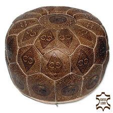 Pouf Oriental en cuir Tabouret travail manuel oreillers de sol Chameau d58cm
