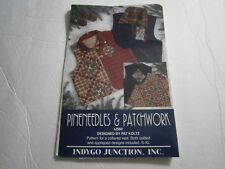 Pineneedles & Patchwork Quilted Collared Berber Vest Sewing Applique Pattern