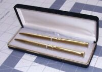 Vintage Pierre Cardin Gold? Toned Pen & Pencil Set Estate Find Nice